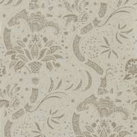 Indian (Beaded) Wallpaper - Stone / Linen