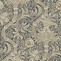 Indian Wallpaper - Charcoal / Nickel