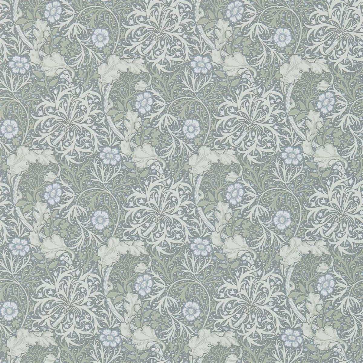 William Morris Co Morris Seaweed Wallpaper Silver Ecruproduct Code 216467