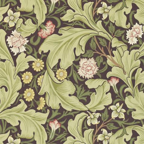 William Morris & Co Archive II Wallpapers Leicester Wallpaper - Chocolate/Olive - 212542