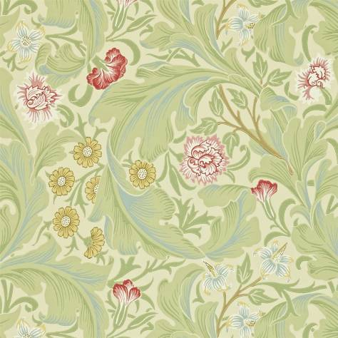 William Morris & Co Archive II Wallpapers Leicester Wallpaper - Green/Coral - 212543