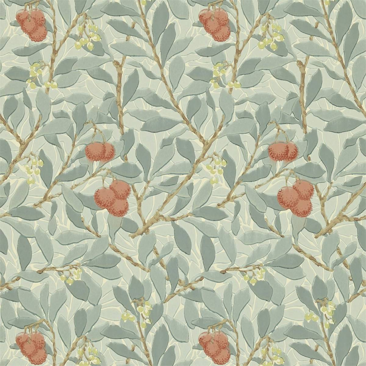 Arbutus Wallpaper  Blue\/Pink 210407  William Morris  Co Compendium II Wallpapers Collection
