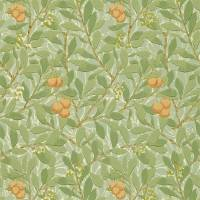 Arbutus Wallpaper - Green/Terracotta