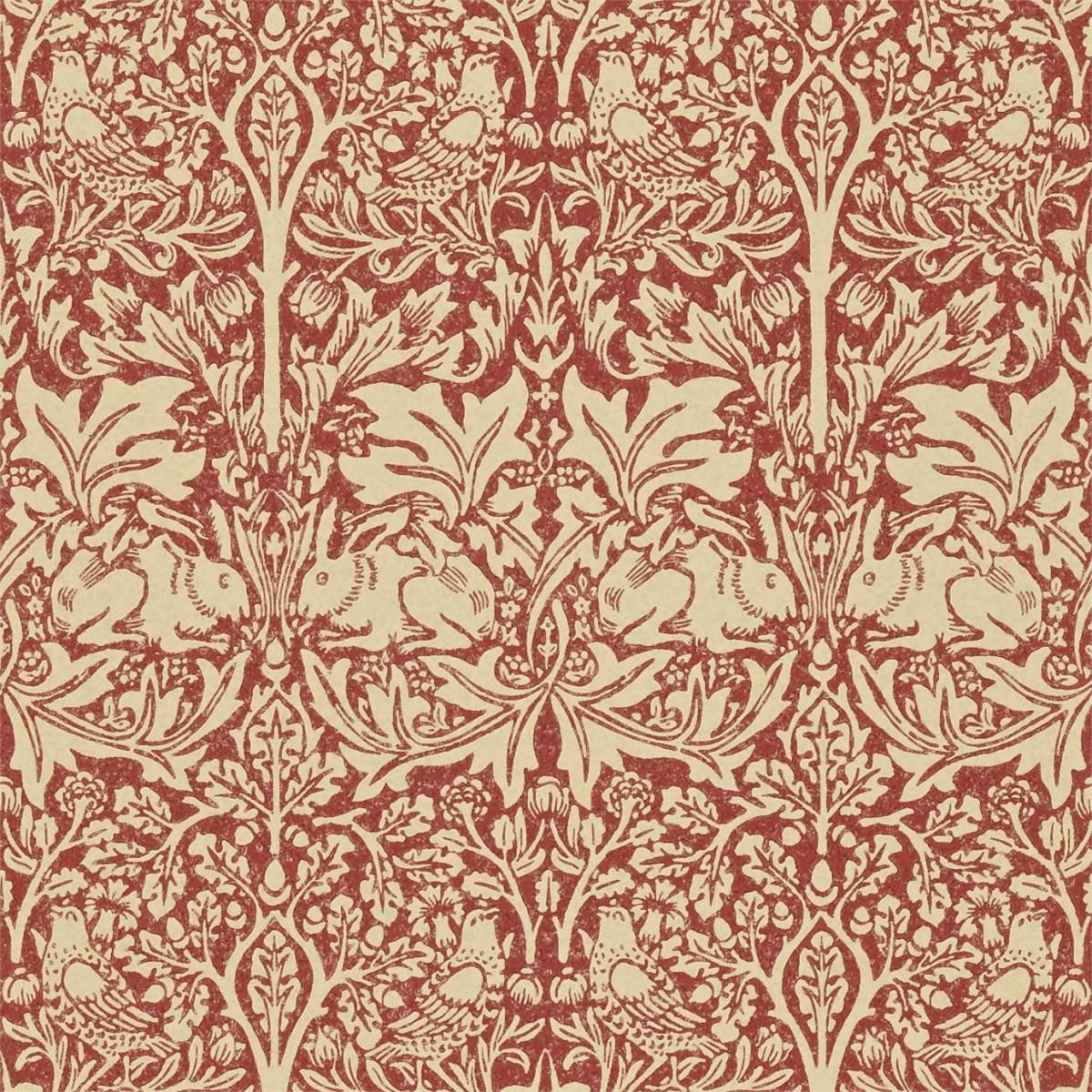 William Morris Wallpaper: Church Red/Biscuit (210410