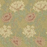Chrysanthemum Wallpaper - Pink/Yellow/Green