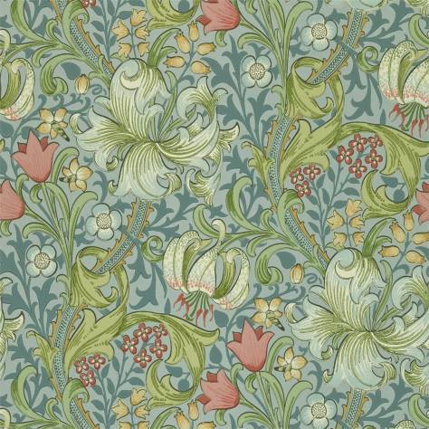William Morris & Co Compendium II Wallpapers Golden Lily Wallpaper - Mineral - 210430
