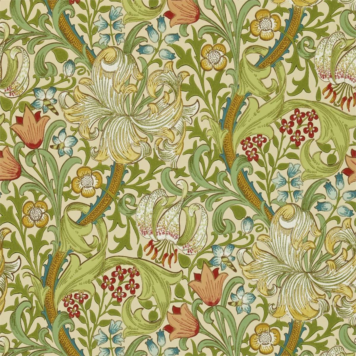 William Morris Wallpaper: Pale Biscuit (210431)