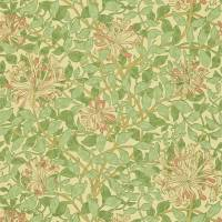 Honeysuckle Wallpaper - Green/Beige/Pink