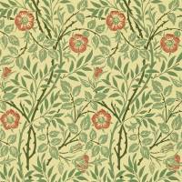 Sweet Briar Wallpaper - Green/Blue/Rose