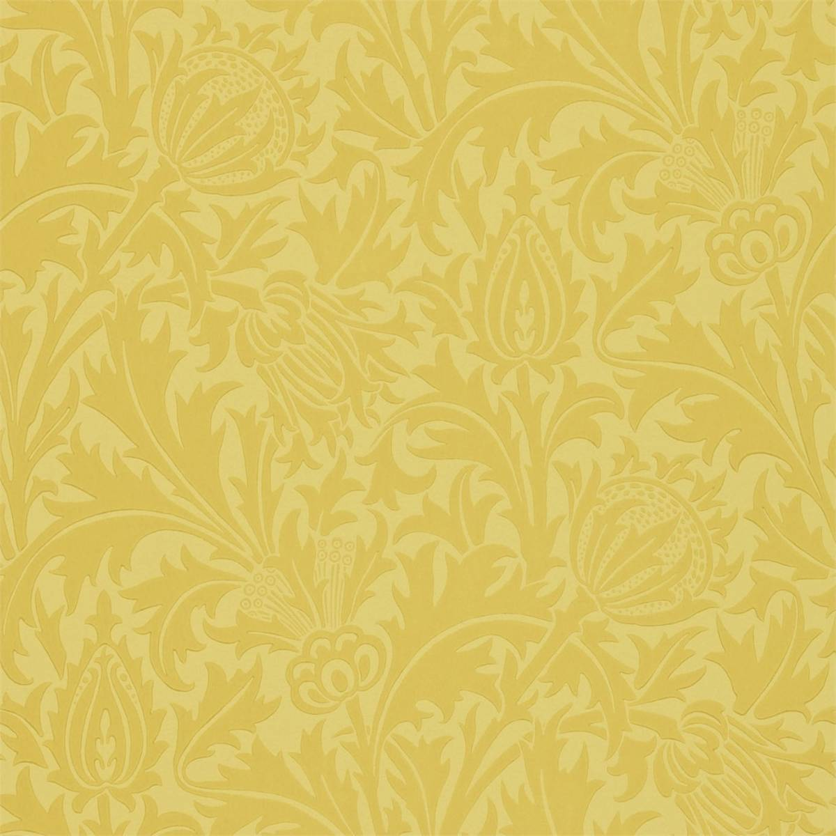 William Morris & Co Compendium II Wallpapers Thistle Wallpaper - Gold - 210484. Loading zoom