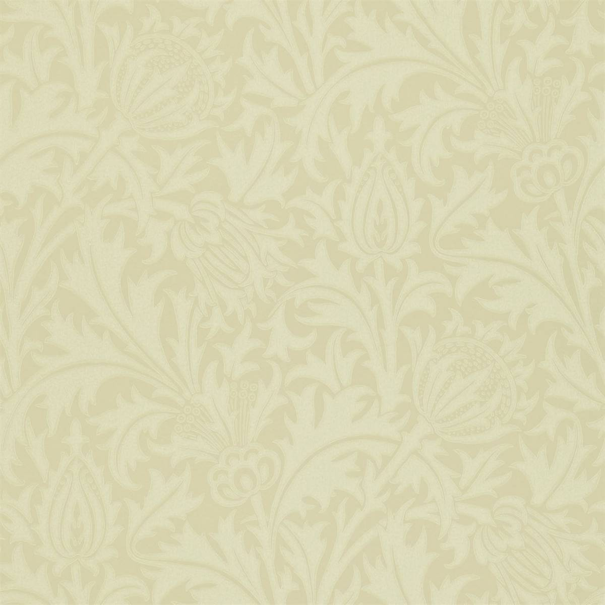 Thistle Wallpaper Ivory 210485 William Morris Co