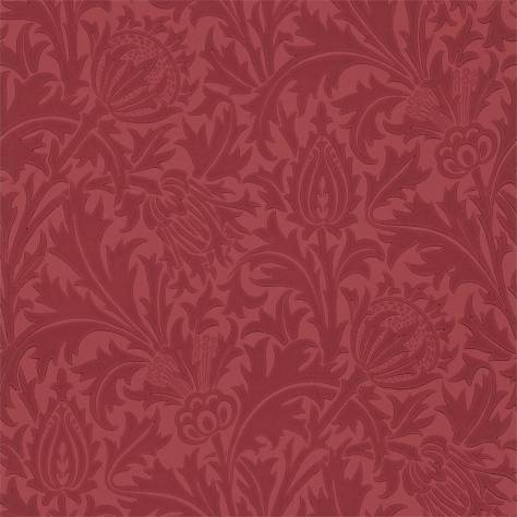 William Morris & Co Compendium II Wallpapers Thistle Wallpaper - Red - 210486