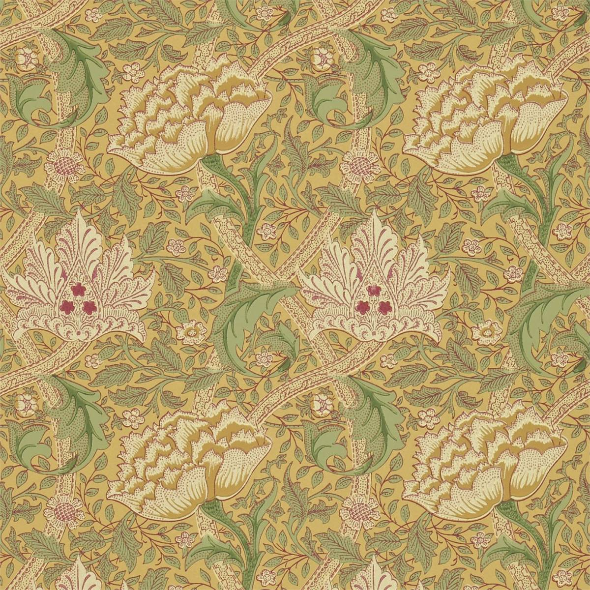 Windrush Wallpaper - Gold/Thyme (210494) - William Morris & Co Compendium II Wallpapers Collection