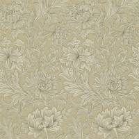 Chrysanthemum Toile Wallpaper - Ivory/Gold
