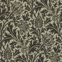 Thistle Wallpaper - Black/Linen