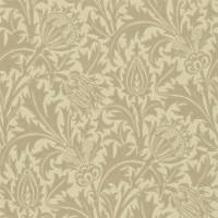 Thistle Wallpaper - Dove/Gold