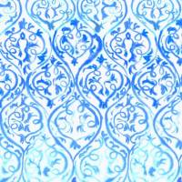 Arabesque Wallpaper - Cobalt