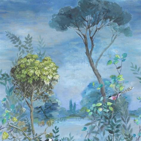 Designers Guild Mandora Wallpapers Giardino Segreto Scene 1 Wallpanel - Delft - PDG1056/01