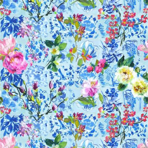 Designers Guild Scenes and Murals Wallpanels Majolica Wallpaper - Cornflower - PDG1028/01