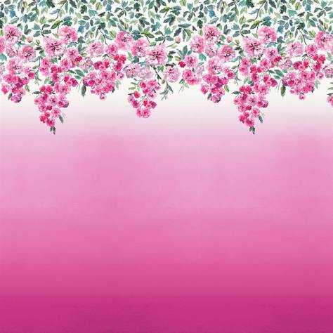 Designers Guild Scenes and Murals Wallpanels Trailing Rose Wallpaper - Peony - PDG656/01