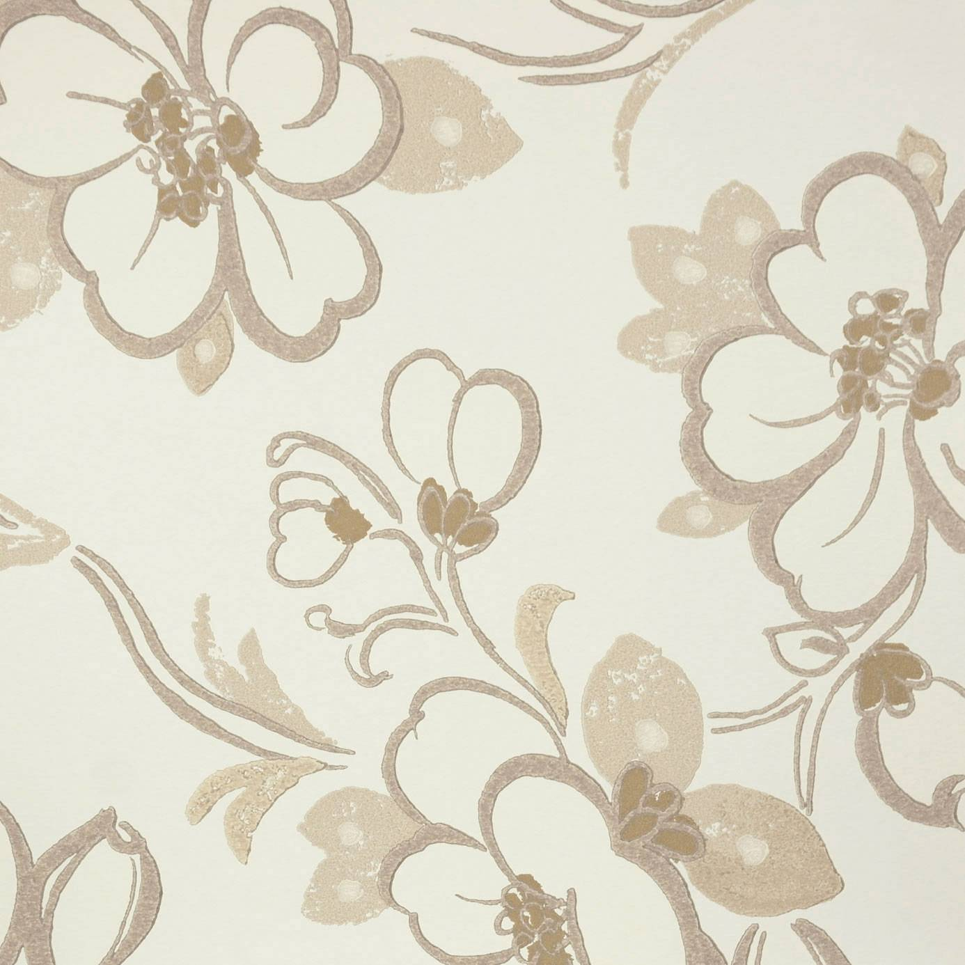 Lotus Flower Wallpaper Oyster P571 01 Designers Guild