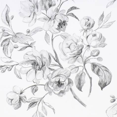 Designers Guild The Edit - Flowers Wallpaper Volume 1 Watelet Wallpaper - Black and White - P540/01