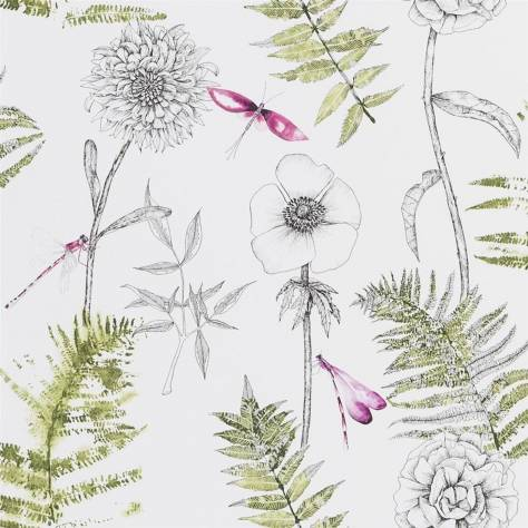 Designers Guild The Edit - Flowers Wallpaper Volume 1 Acanthus Wallpaper - Moss - PDG1022/04