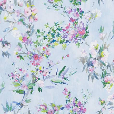 Designers Guild The Edit - Flowers Wallpaper Volume 1 Faience Wallpaper - Sky - PDG1024/01