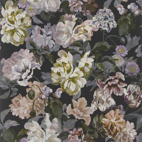 Designers Guild The Edit - Flowers Wallpaper Volume 1 Delft Flower Wallpaper - Charcoal - PDG1033/01