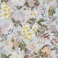 Delft Flower Wallpaper - Duck Egg
