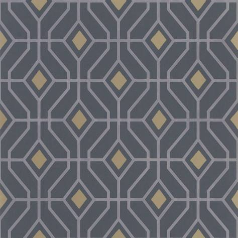 Designers Guild The Edit - Geometrics Wallpaper Laterza Wallpaper - Graphite - PDG1026/05