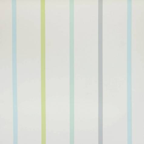 Designers Guild Around the World Fabrics & Wallpapers Rainbow Stripe Wallpaper - Cloud - P568/02