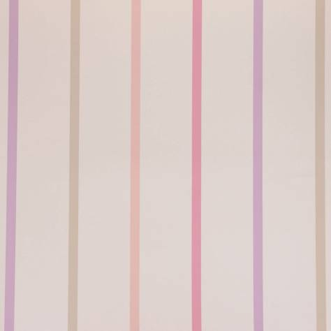 Designers Guild Around the World Fabrics & Wallpapers Rainbow Stripe Wallpaper - Petal - P568/07