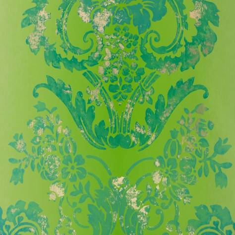 Designers Guild Alexandria Wallcoverings  Kashgar Wallpaper - Emerald - P619/11