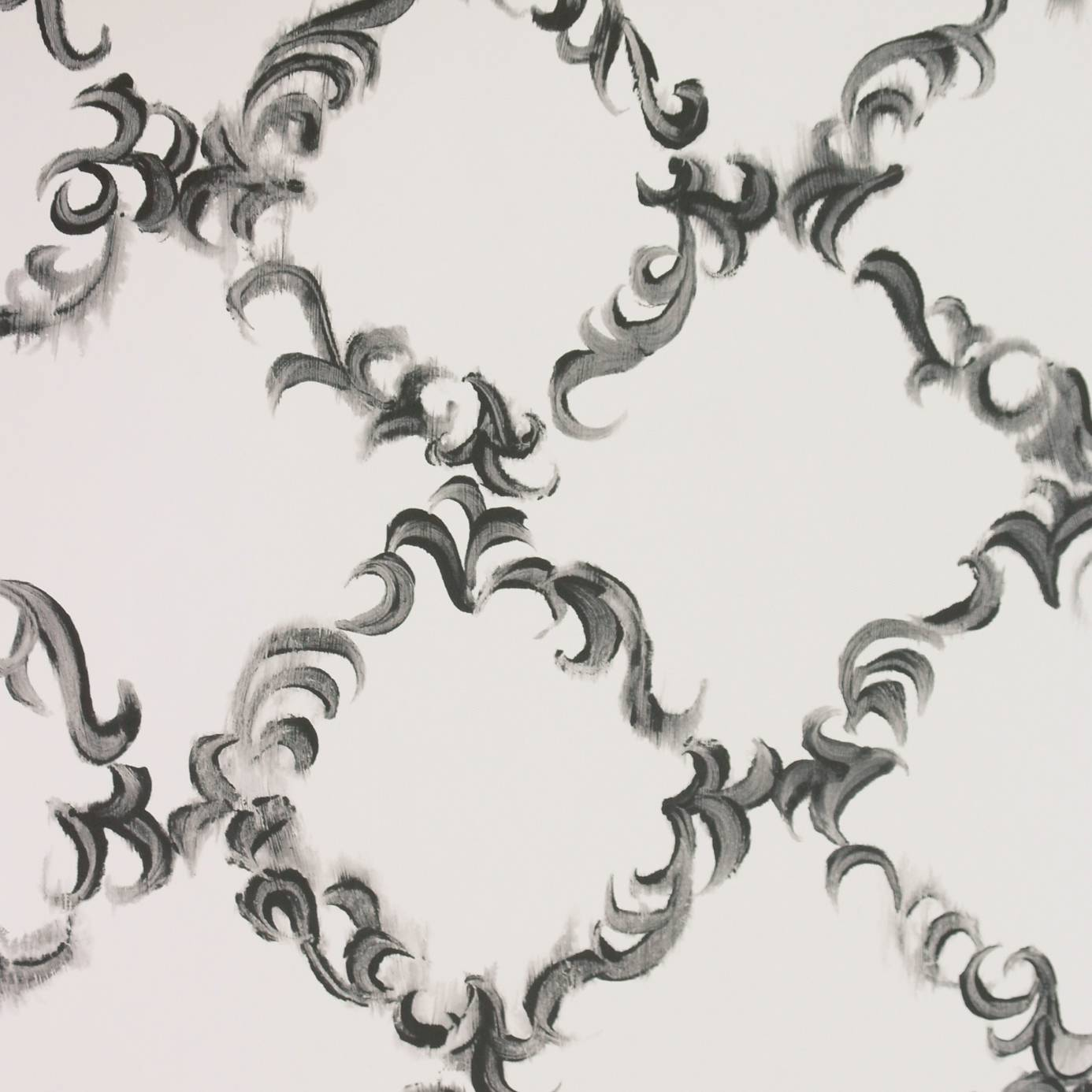 ... Guild Kasuri Wallcoverings Kasuri Wallpaper - Black & White - P581/07