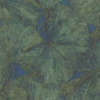 Taisho Lotus Wallpanel (panel A) - Malachite/Lapis