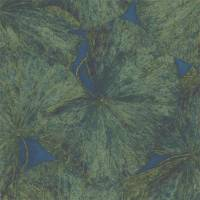 Taisho Lotus Wallpanel (panel B) - Malachite/Lapis
