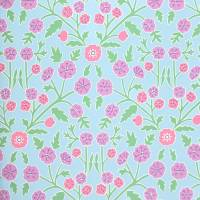 Candytuft Wallpaper - Powder Blue/Berry