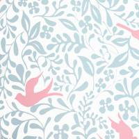 Larksong Wallpaper - Powder Blue/Pink