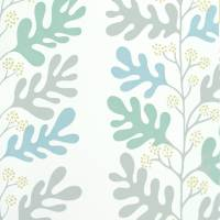 Malmo Wallpaper - Dove/Teal