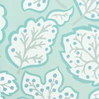 Jewel Leaves Wallpaper - Mineral/Blue