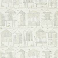 Beach Huts Wallpaper - Driftwood
