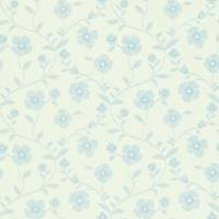 Sabine Wallpaper - Ivory/China Blue