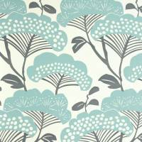 Tree Tops Wallpaper - Teal/Ivory