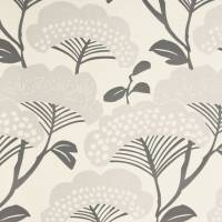 Tree Tops Wallpaper - Silver/Ivory
