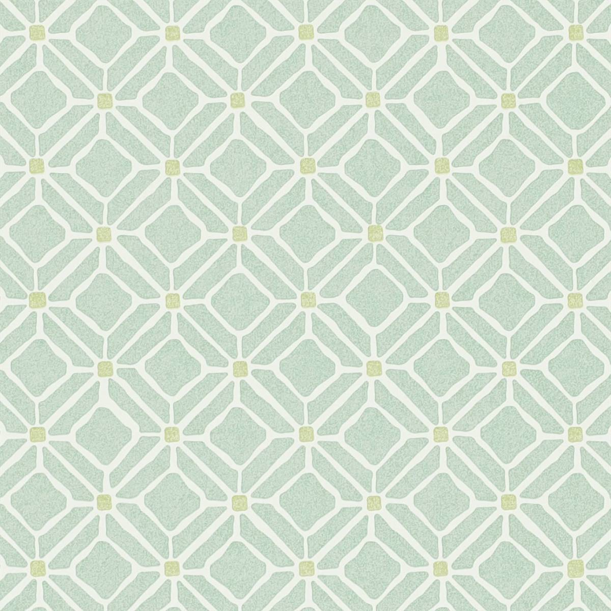 Fretwork wallpaper aqua lime 213720 sanderson home for Home wallpaper collection