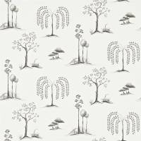 Willow Tree Wallpaper - Charcoal/Ivory