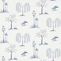 Willow Tree Wallpaper - Blue/Ivory