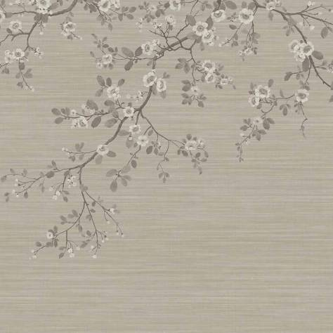 Blendworth Fabrics Venice Wallpapers - SketchTwenty3 Oriental Blossom Wallpaper - Taupe - VN01208
