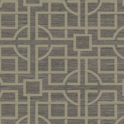 Blendworth Fabrics Venice Wallpapers - SketchTwenty3 Japanese Trellis Wallpaper - Charcoal and Gold - VN01217